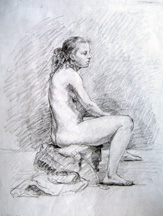 nude, model drawing by Lala Ragimiov