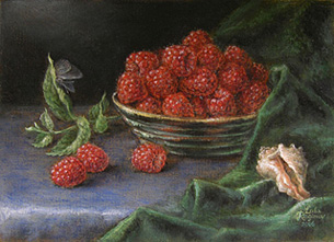Still life on the voice of Lorenzo Regazzo, oil on canvas panel, painting by Lala Ragimov