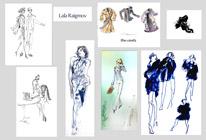 Fashion illustration by Lala Ragimov watercolour ink