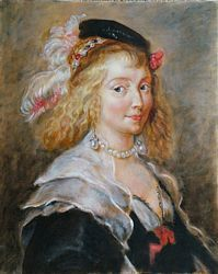 copy of a Rubens workshop painting of Helene Fourment by Lala Ragimov