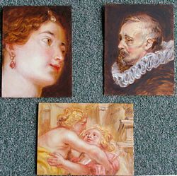 peter paul rubens copies by lala ragimov, oil on panel