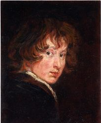 Van Dyck self portrait copy, painting by Lala Ragimov
