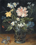 Jan Brueghel still life oil on copper copy by Lala Ragimov