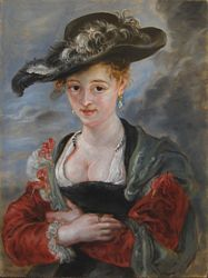 Chapeau de paille copy of Rubens by Lala Ragimov oil on panel