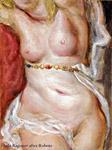 Chapeau de paille copy of Rubens by Lala Ragimov oil on panel