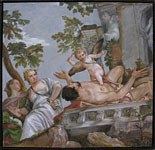 Veronese copy, painting by Lala Ragimov, allegory of love, scorn